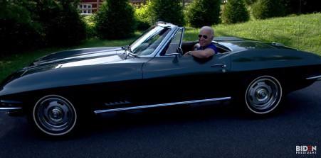 Politically incorrect? Biden guns a Corvette as Trump points to 'Slow Joe'